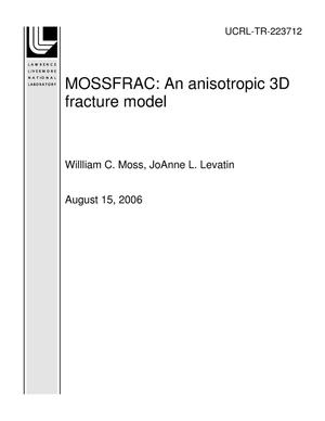Primary view of object titled 'MOSSFRAC: An anisotropic 3D fracture model'.