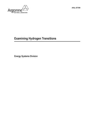 Primary view of object titled 'Examining hydrogen transitions.'.