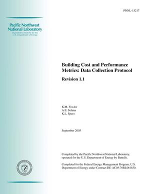 Primary view of object titled 'Building Cost and Performance Metrics: Data Collection Protocol, Revision 1.0'.