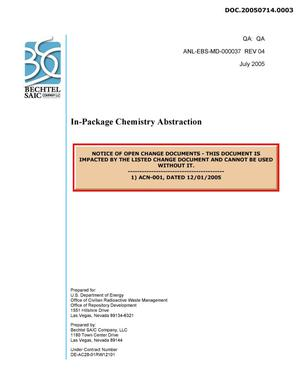 Primary view of object titled 'IN-PACKAGE CHEMISTRY ABSTRACTION'.