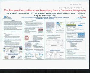 Primary view of object titled 'THE PROPOSED YUCCA MOUNTAIN REPOSITORY FROM A CORROSION PERSPECTIVE POSTER'.