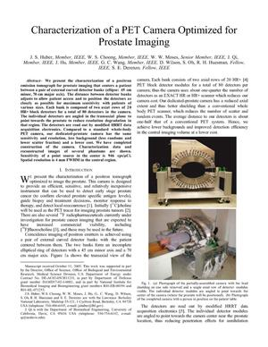 Primary view of object titled 'Characterization of a PET Camera Optimized for ProstateImaging'.