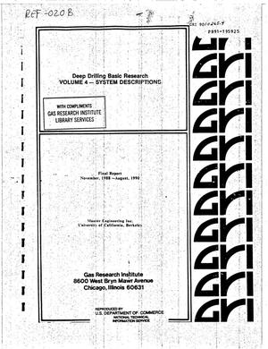 Primary view of object titled 'Deep Drilling Basic Research: Volume 4 - System Description. Final Report, November 1988--August 1990'.