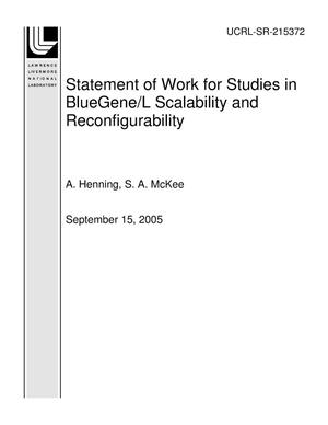 Primary view of object titled 'Statement of Work for Studies in BlueGene/L Scalability and Reconfigurability'.