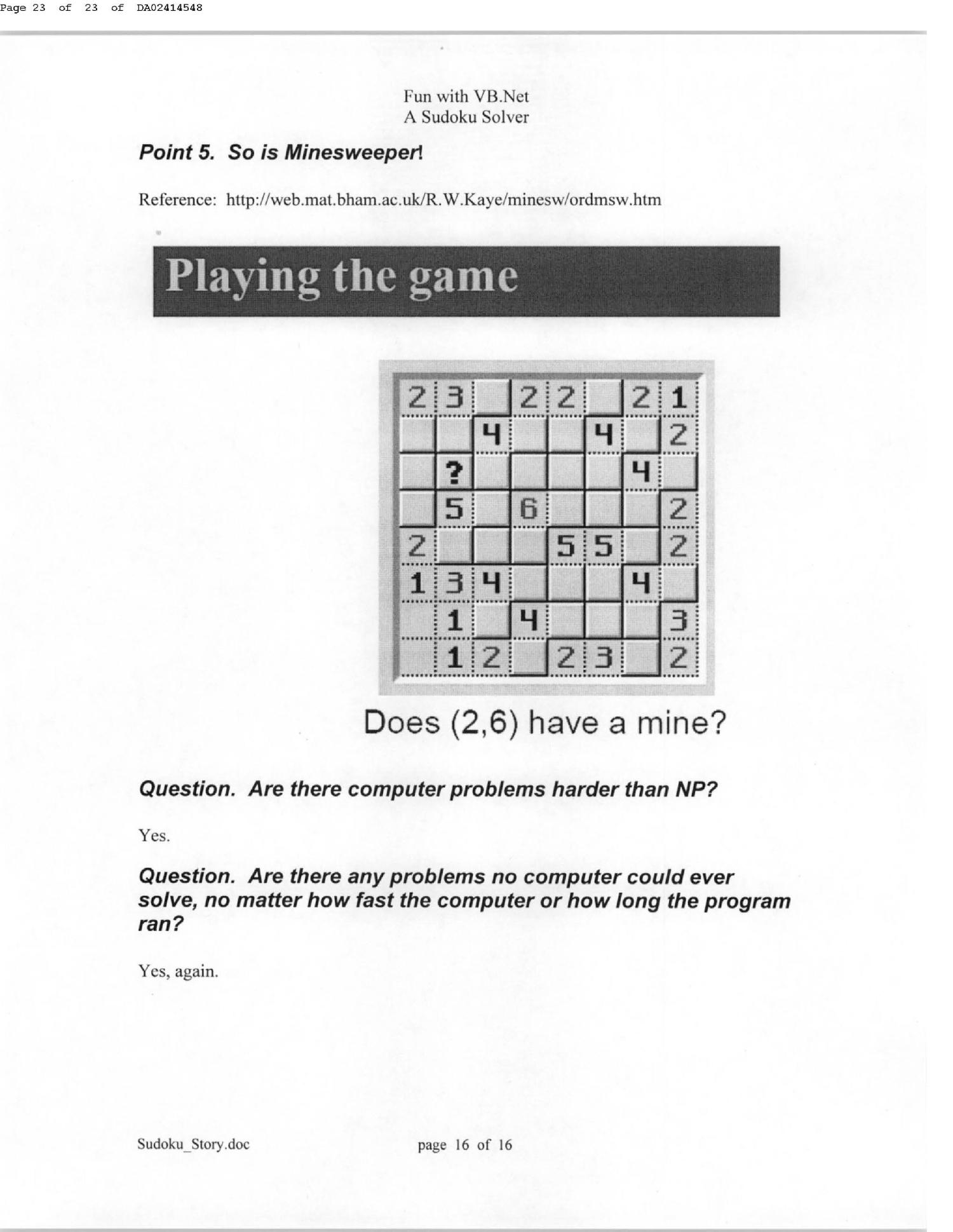 SUDOKU A STORY & A SOLVER - Page 20 of 20 - Digital Library