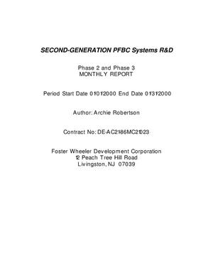 Primary view of object titled 'Second-Generation PFBC Systems R&D'.