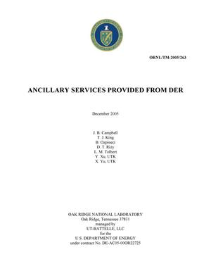 Primary view of object titled 'Ancillary Services Provided from DER'.