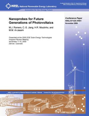 Primary view of object titled 'Nanoprobes for Future Generations of Photovoltaics'.