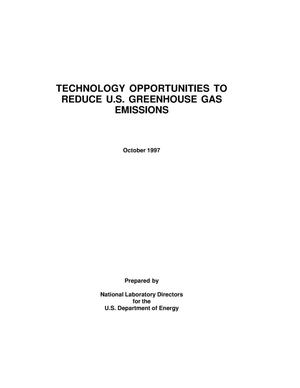 Primary view of object titled 'Technology Opportunities to Reduce U.S. Greenhouse Gas Emissions'.