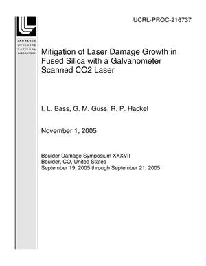 Primary view of object titled 'Mitigation of Laser Damage Growth in Fused Silica with a Galvanometer Scanned CO2 Laser'.