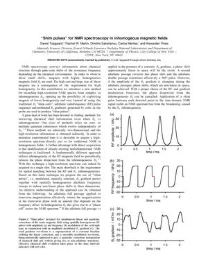 Primary view of object titled ''Shim pulses' for NMR spectroscopy in inhomogeneous magneticfields'.