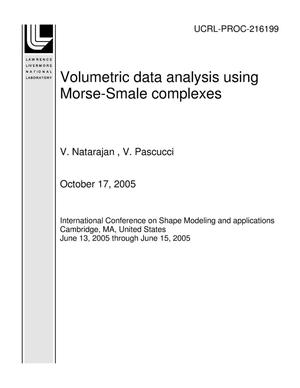 Primary view of object titled 'Volumetric data analysis using Morse-Smale complexes'.