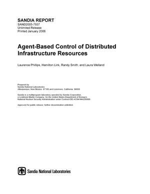 Primary view of object titled 'Agent-based control of distributed infrastructure resources.'.