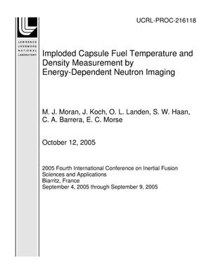Primary view of object titled 'Imploded Capsule Fuel Temperature and Density Measurement by Energy-Dependent Neutron Imaging'.