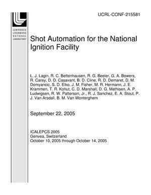 Primary view of object titled 'Shot Automation for the National Ignition Facility'.