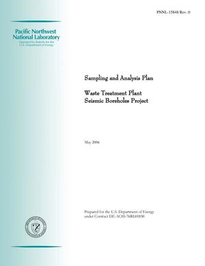Primary view of object titled 'Sampling and Analysis Plan - Waste Treatment Plant Seismic Boreholes Project'.