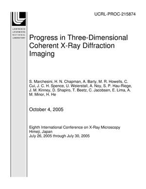 Primary view of object titled 'Progress in Three-Dimensional Coherent X-Ray Diffraction Imaging'.