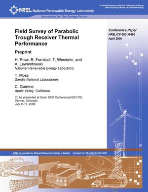 Primary view of object titled 'Field Survey of Parabolic Trough Receiver Thermal Performance: Preprint'.