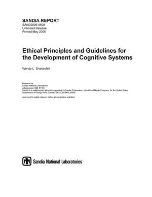 Primary view of object titled 'Ethical principles and guidelines for the development of cognitive systems.'.
