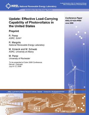 Primary view of object titled 'Update: Effective Load-Carrying Capability of Photovoltaics in the United States; Preprint'.