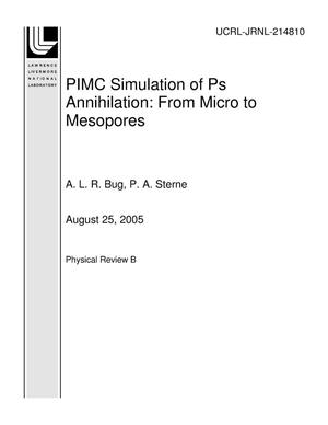 Primary view of object titled 'PIMC Simulation of Ps Annihilation: From Micro to Mesopores'.