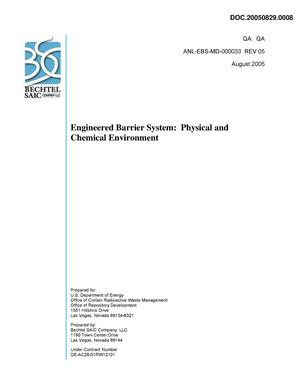 Primary view of object titled 'ENGINEERED BARRIER SYSTEM: PHYSICAL AND CHEMICAL ENVIRONMENT'.