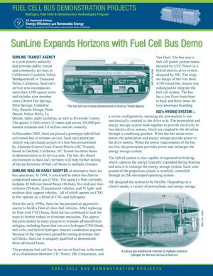Primary view of object titled 'SunLine Expands Horizons with Fuel Cell Bus Demo'.