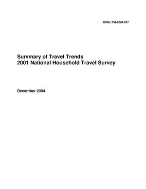 Primary view of object titled 'Summary of Travel Trends 2001 National Household Travel Survey'.