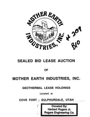 Primary view of object titled 'Sealed Bid Lease Auction of Mother Earth Industries, Inc.; Geothermal Lease Holdings Located at Cove Fort - Sulphurdale, Utah'.