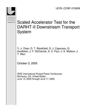Primary view of object titled 'Scaled Accelerator Test for the DARHT-II Downstream Transport System'.