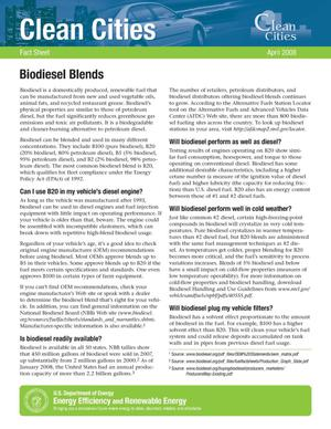 Primary view of object titled 'Biodiesel Blends'.