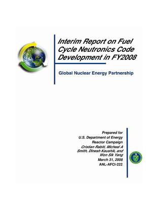 Primary view of object titled 'Interim report on fuel cycle neutronics code development.'.