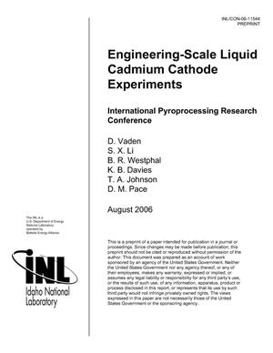 Primary view of object titled 'Engineering-Scale Liquid Cadmium Cathode Experiments'.