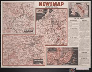 Primary view of object titled 'Newsmap. For the Armed Forces. 274th week of the war, 156th week of U.S. participation'.