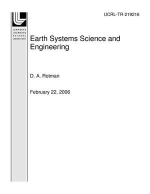 Primary view of object titled 'Earth Systems Science and Engineering'.