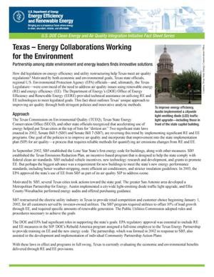 Primary view of object titled 'Texas - Energy Collaborations Working for the Environment'.