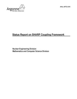 Primary view of object titled 'Status report on SHARP coupling framework.'.