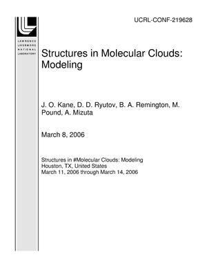 Primary view of object titled 'Structures in Molecular Clouds: Modeling'.