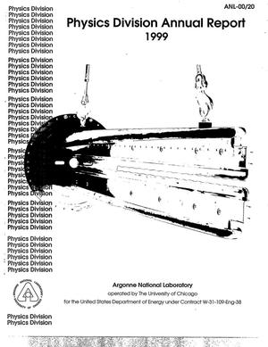 Primary view of object titled 'Physics division annual report 1999'.