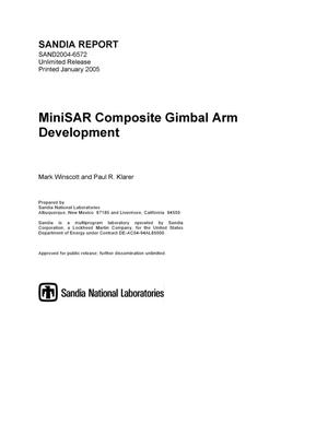 Primary view of object titled 'MiniSAR composite gimbal arm development.'.
