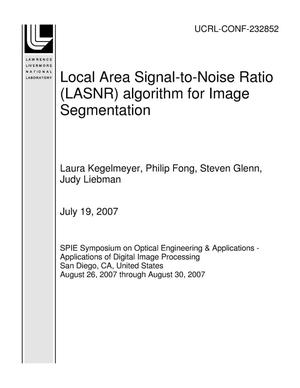 Primary view of object titled 'Local Area Signal-to-Noise Ratio (LASNR) algorithm for Image Segmentation'.
