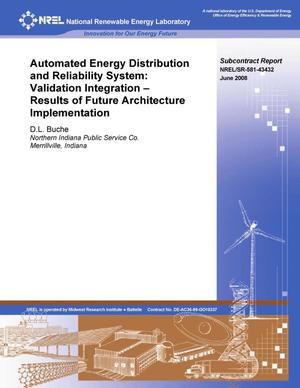 Primary view of object titled 'Automated Energy Distribution and Reliability System: Validation Integration - Results of Future Architecture Implementation'.