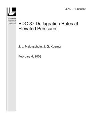 Primary view of object titled 'EDC-37 Deflagration Rates at Elevated Pressures'.