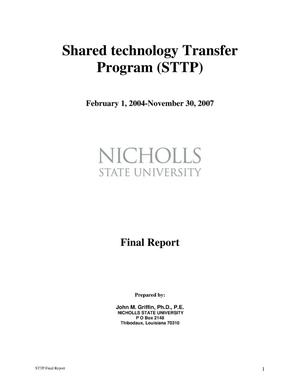 Primary view of object titled 'SHARED TECHNOLOGY TRANSFER PROGRAM'.