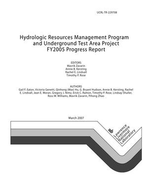 Primary view of object titled 'Hydrologic Resources Management Program and Underground Test Area Project FY2005 Progress Report'.