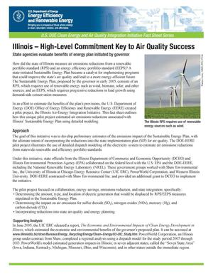 Primary view of object titled 'Illinois - High-Level Commitment Key to Air Quality Success'.