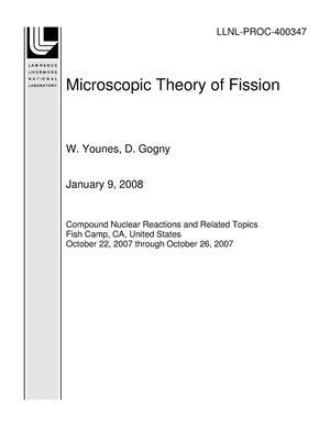 Primary view of object titled 'Microscopic Theory of Fission'.