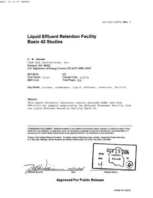Primary view of object titled 'LIQUID EFFLUENT RETENTION FACILITY (LERF) BASIN 42 STUDIES'.