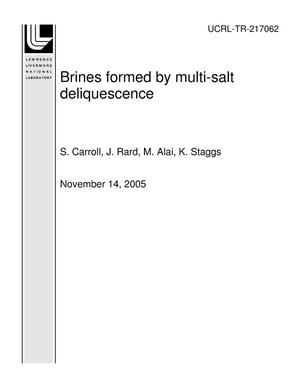 Primary view of object titled 'Brines formed by multi-salt deliquescence'.