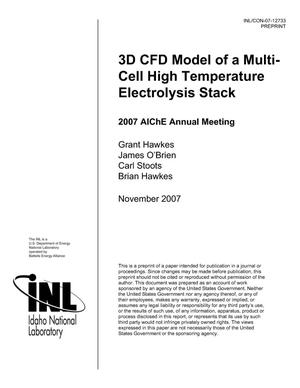 Primary view of object titled '3D CFD Model of a Multi-Cell High Temperature Electrolysis Stack'.